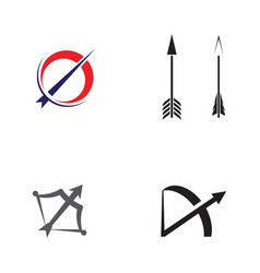 Archery icon template vector