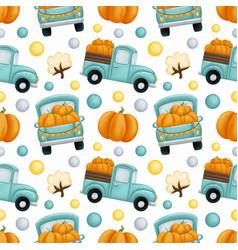 Autumn harvest time seamless pattern vector