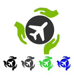 aviation care flat icon vector image