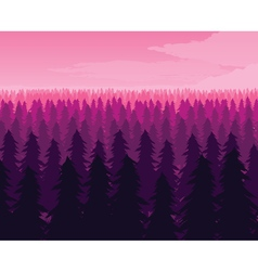 Background of landscape with deep fir forest vector image