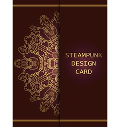 Banner with steampunk design elements vector image