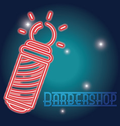 Barbershop neon sign vector