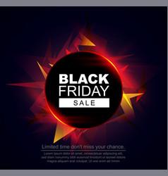 black friday sale banner circle frame vector image