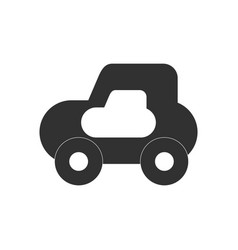 Black icon on white background toy car vector