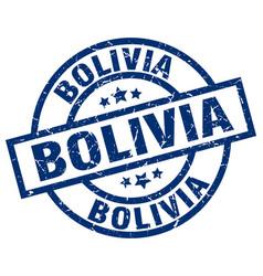 Bolivia blue round grunge stamp vector