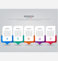 Business infographic labels template with vector