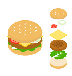 cheeseburger icon vector image