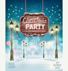 christmas holiday party flyer background vector image