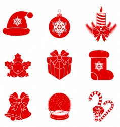 Christmas silhouettes vector image