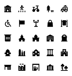 City elements icons 7 vector