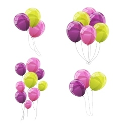 Color Glossy Balloons Set vector