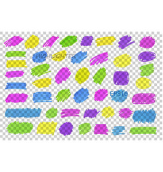 color highlight stripes strokes marks vector image