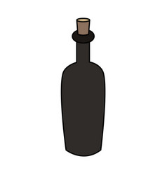color image cartoon spa bottle with cork vector image