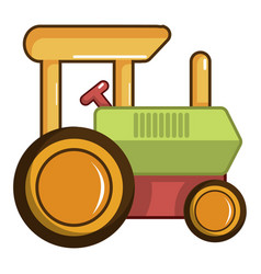 colorful tractor toy icon cartoon style vector image
