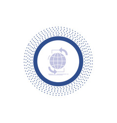 connectivity global internet network web glyph vector image