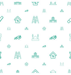 Construction icons pattern seamless white vector