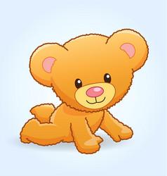 cute cuddly teddy bear crawling vector image