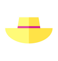 Cute summer hat image vector
