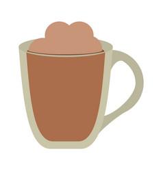Delicious mocaccino cup vector