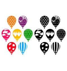 Designer Air Balloons vector image