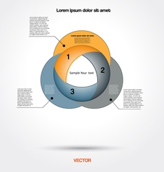 Diagram infographic for business project workflow vector