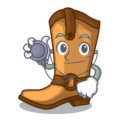 Doctor cowboy boots in the shape cartoon vector