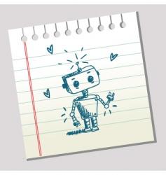 doodle robot vector image