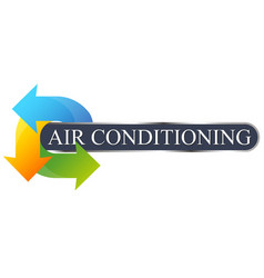 Environmental air conditioning symbol for business vector