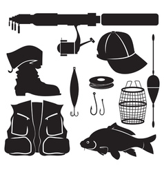fisher equipment set vector image