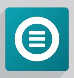 Flat list icon vector