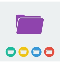folder flat circle icon vector image