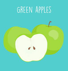 Fresh green apples graphic vector