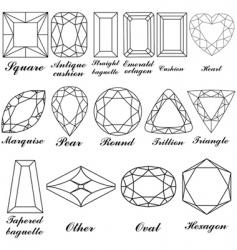 Gemstone shapes vector