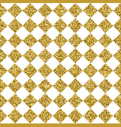 Gold glitter square tile seamless pattern vector