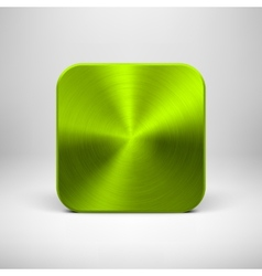 Green App Icon Template with Metal Texture vector