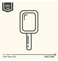 Hairdressing tools Icons series Mirror vector