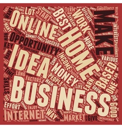 Home Based Business Idea Key Factors That vector