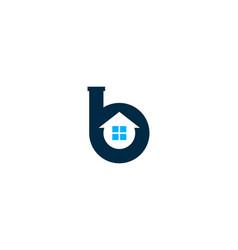 home letter b logo icon design vector image