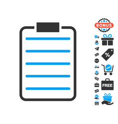 List page icon with free bonus vector