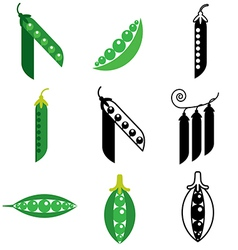 Logo icons peas vector