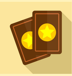 magic cards icon flat style vector image