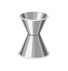 metal cocktail jigger vector image