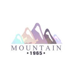 mountain estd 1965 logo tourism hiking and vector image