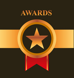 movie awards concept vector image