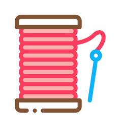 needle thread icon outline vector image