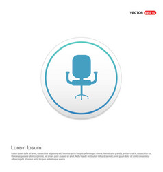 office chair icon hexa white background icon vector image