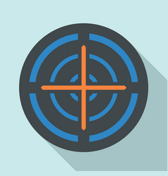 orange cross gun aim icon flat style vector image
