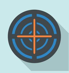 orange cross gun aim icon flat style vector image