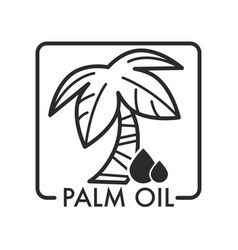 Palm oil with oily liquid and tree with branches vector
