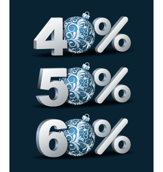 Percent discount icon vector image vector image